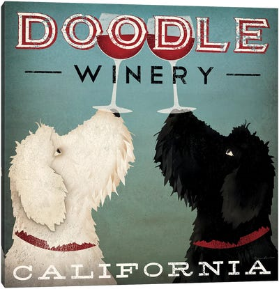 Doodle Winery Canvas Art Print