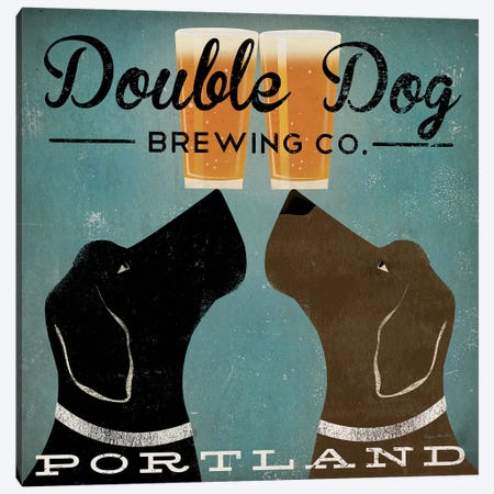 Double Dog Brewing Co. Canvas Print #WAC5220} by Ryan Fowler Canvas Artwork