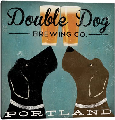 Double Dog Brewing Co. Canvas Art Print