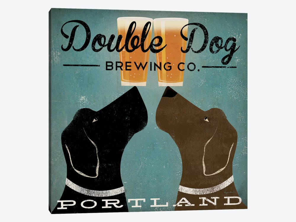 Double Dog Brewing Co. by Ryan Fowler 1-piece Canvas Print