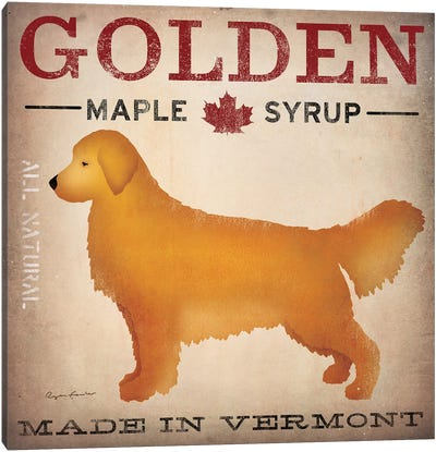 Golden Maple Syrup Canvas Art Print