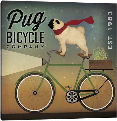 Pug Bicycle Co. Canvas Art Print