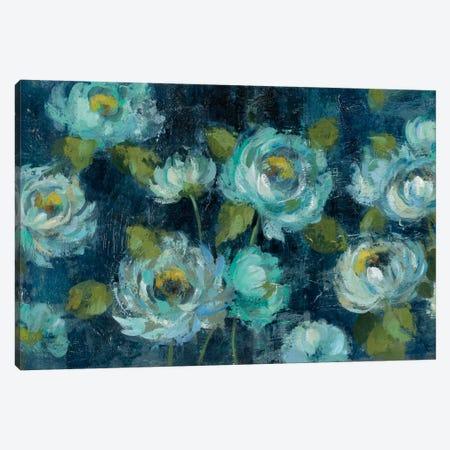 Indigo Mums Canvas Print #WAC5232} by Silvia Vassileva Canvas Print