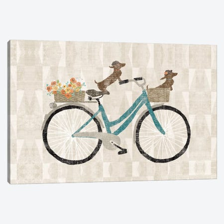 Doxie Ride I Canvas Print #WAC5241} by Sue Schlabach Canvas Artwork