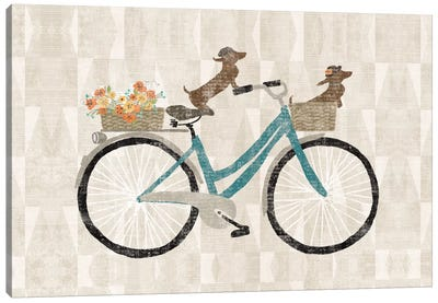 Doxie Ride I Canvas Print #WAC5241
