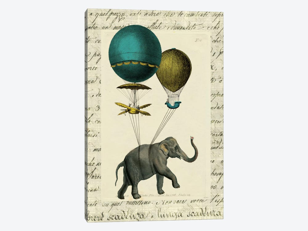 Elephant Ride I by Sue Schlabach 1-piece Canvas Art Print