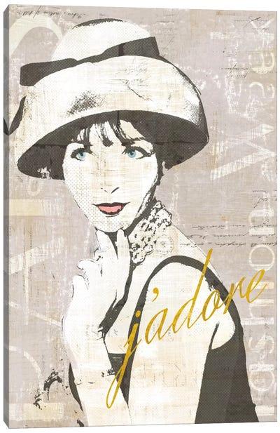 Fashion Week Paris Halftone I (j'adore) Canvas Print #WAC5246