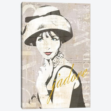 Fashion Week Paris Halftone I (j'adore) Canvas Print #WAC5246} by Sue Schlabach Art Print