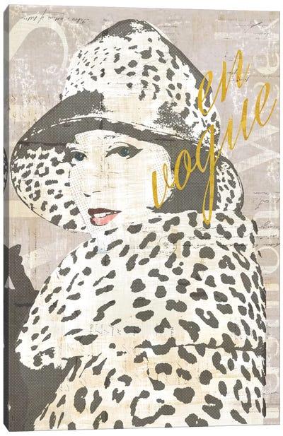 Fashion Week Paris Halftone II (en vogue) Canvas Print #WAC5247