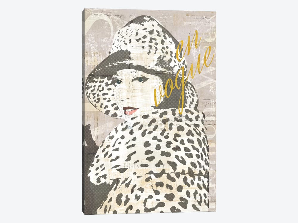 Fashion Week Paris Halftone II (en vogue) 1-piece Canvas Artwork