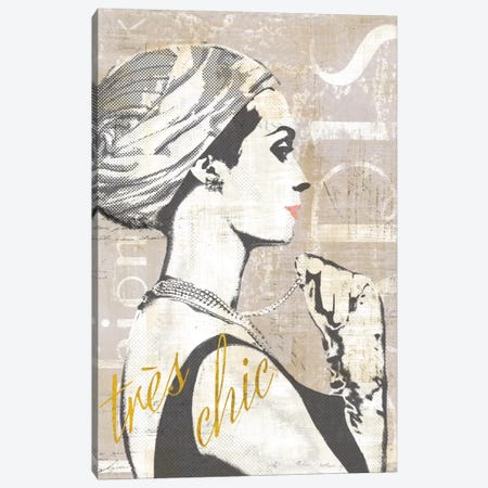 Fashion Week Paris Halftone III (tres chic) Canvas Print #WAC5248} by Sue Schlabach Canvas Art