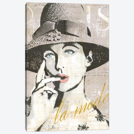 Fashion Week Paris Halftone IV (la mode) Canvas Print #WAC5249} by Sue Schlabach Canvas Artwork