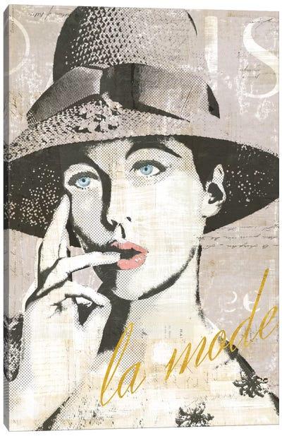 Fashion Week Paris Halftone IV (la mode) Canvas Print #WAC5249