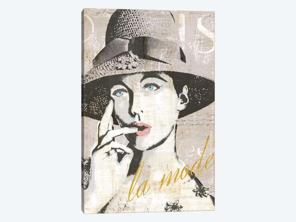 Fashion Week Paris Halftone IV (la mode) 1-piece Canvas Wall Art