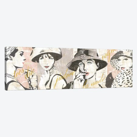 Fashion Week Paris Halftone V Canvas Print #WAC5250} by Sue Schlabach Art Print