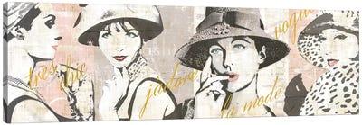 Fashion Week Paris Halftone V Canvas Print #WAC5250