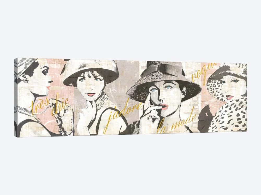 Fashion Week Paris Halftone V by Sue Schlabach 1-piece Canvas Art
