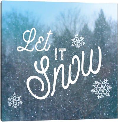 Let It Snow I Canvas Print #WAC5256