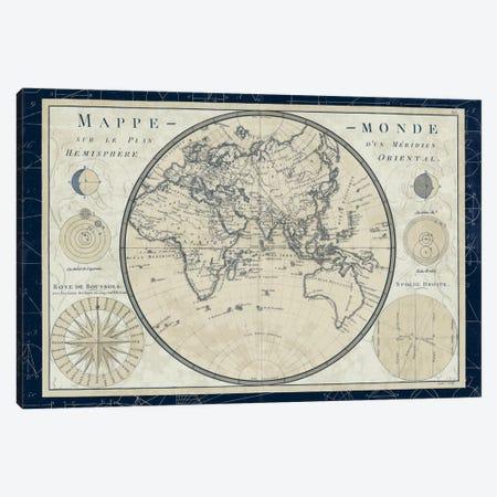Mappe Monde Sur Le Plan D'un Meridien Canvas Print #WAC5258} by Sue Schlabach Art Print