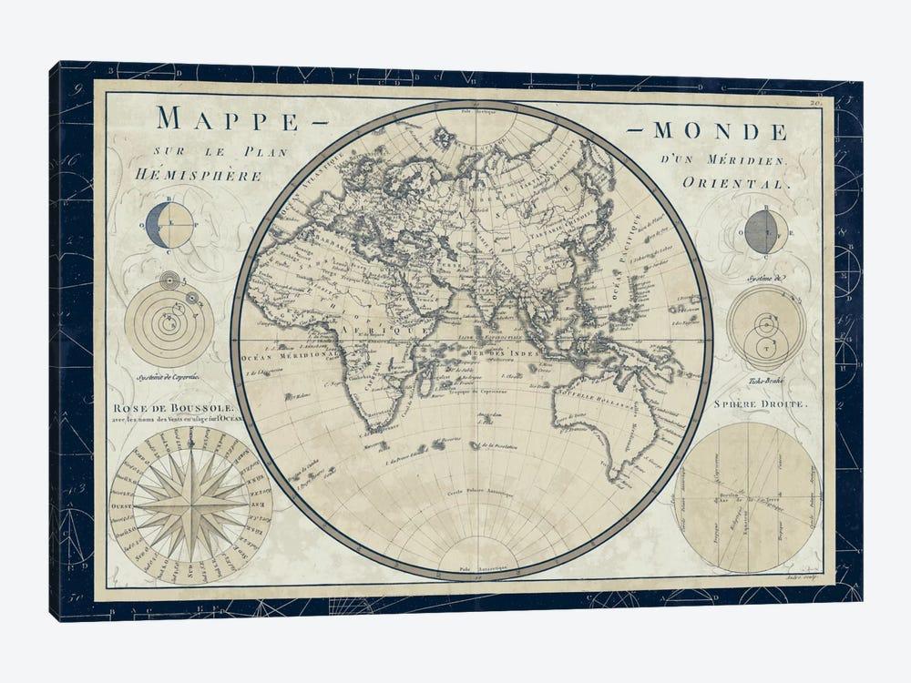 Mappe Monde Sur Le Plan D'un Meridien by Sue Schlabach 1-piece Canvas Artwork