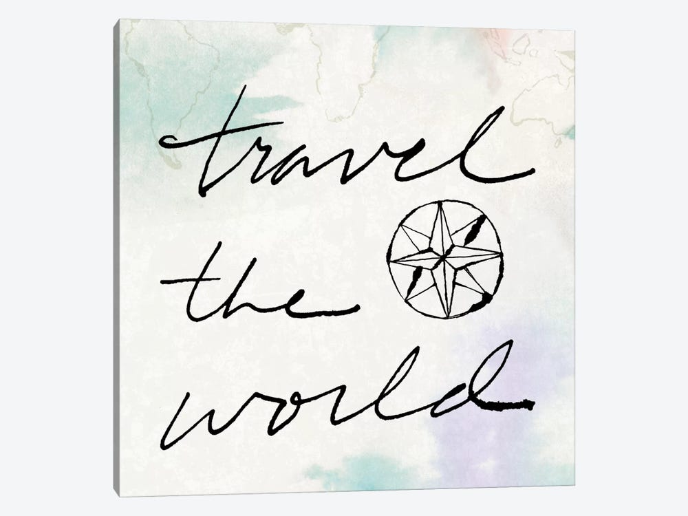 Mapped Shorelines Typography II (Travel The World) 1-piece Art Print
