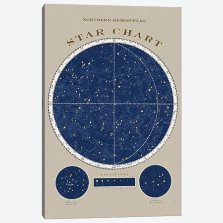 Northern Hemisphere Star Chart Canvas Print #WAC5264} by Sue Schlabach Art Print