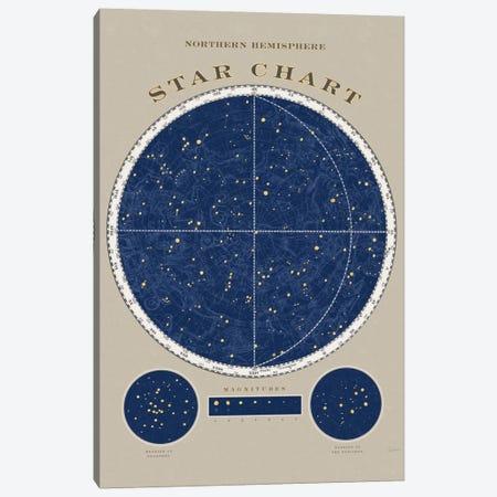 Northern Hemisphere Star Chart Canvas Print #WAC5264} by Sue Schlabach Art Print