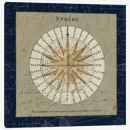 Planisphere Of The Stars On Blue Canvas Print #WAC5268} by Sue Schlabach Canvas Art