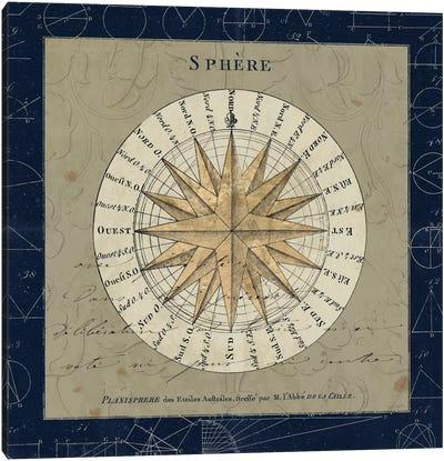 Planisphere Of The Stars On Blue Canvas Art Print