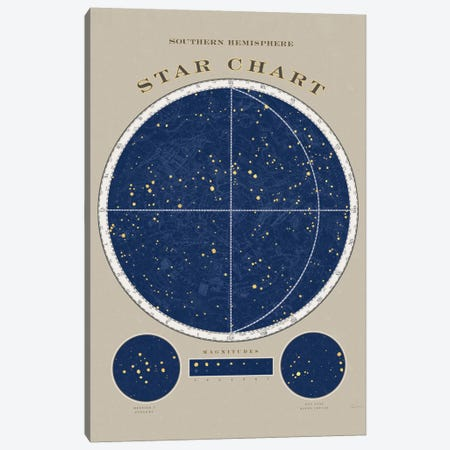 Southern Hemisphere Star Chart Canvas Print #WAC5272} by Sue Schlabach Canvas Print
