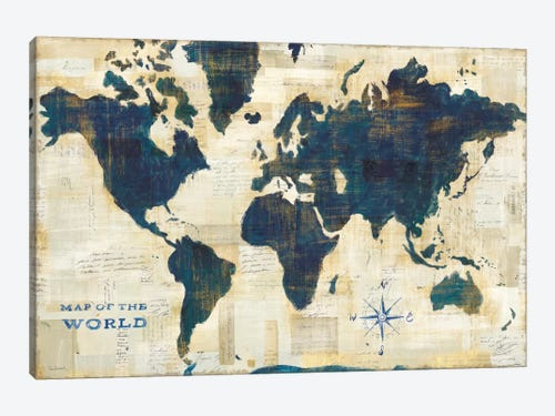 World map collage canvas wall art by sue schlabach icanvas world map collage 1 piece canvas print gumiabroncs Images