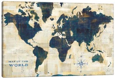 World Map Collage Canvas Print #WAC5279