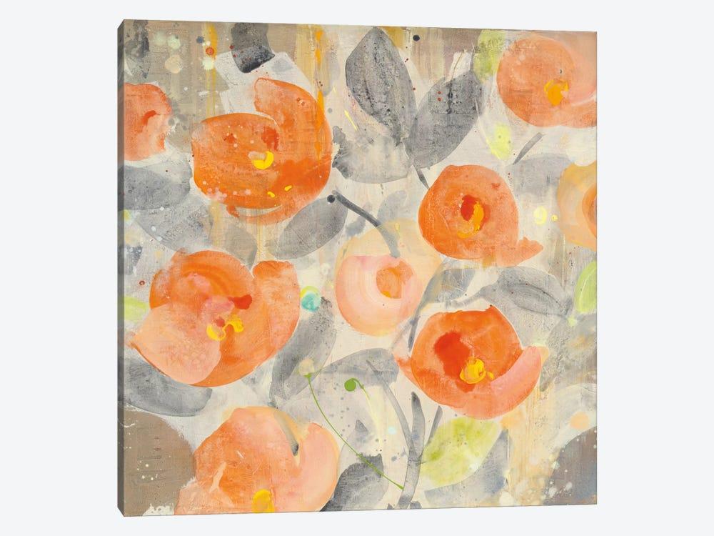 Poppy Garden I by Albena Hristova 1-piece Canvas Artwork