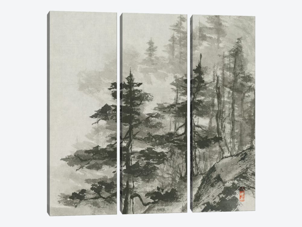 Sumi Treetops by Chris Paschke 3-piece Canvas Print