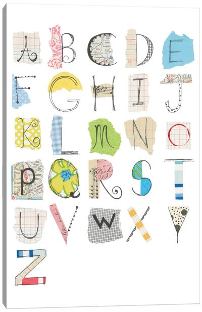 Alphabet I Canvas Art Print