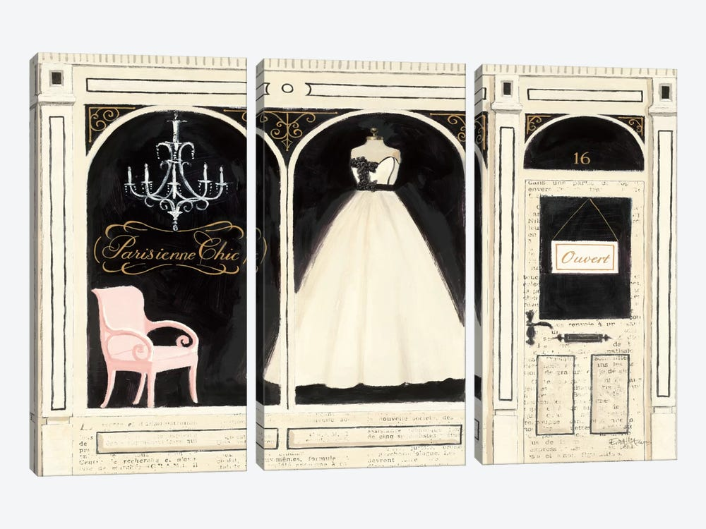 Parisienne Chic by Emily Adams 3-piece Canvas Art Print