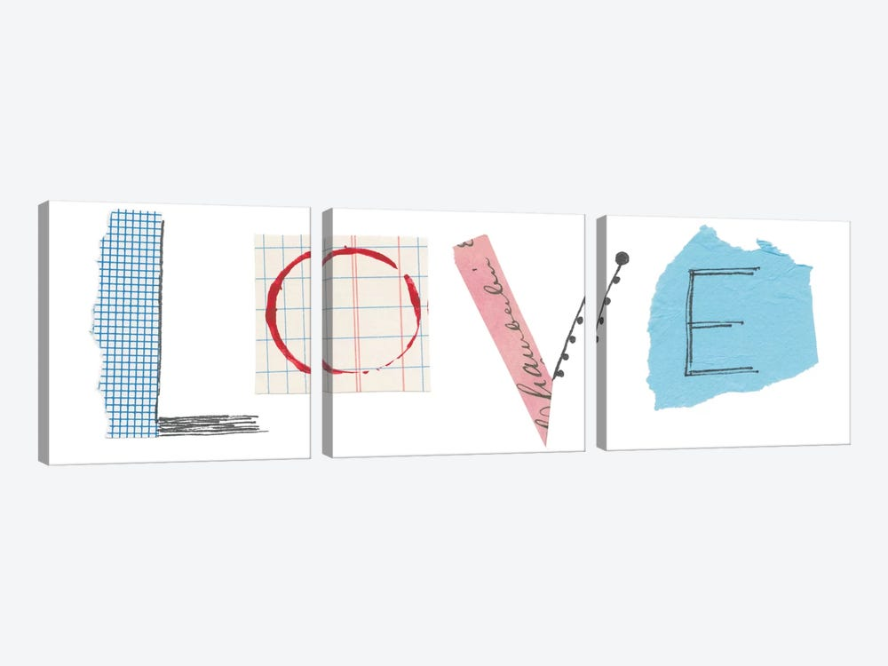 Love by Courtney Prahl 3-piece Canvas Wall Art