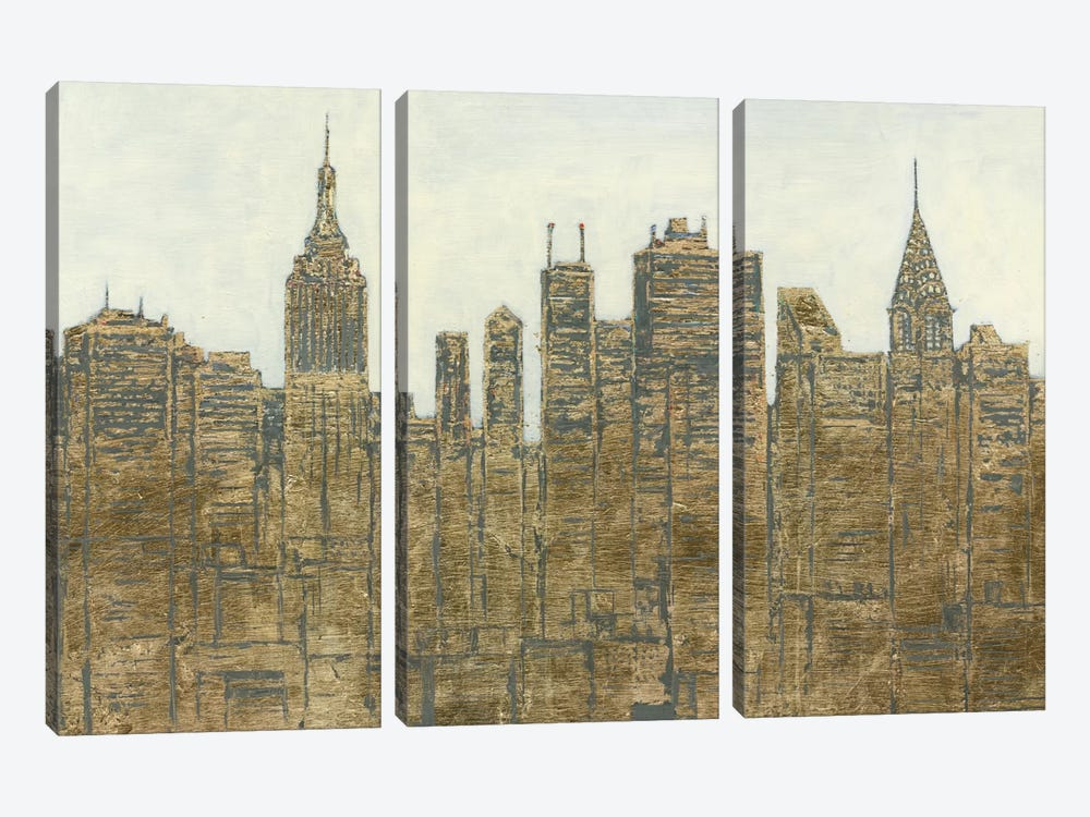 Lavish Skyline by James Wiens 3-piece Canvas Art