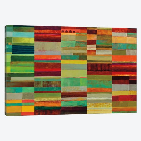 Fields Of Color VIII Canvas Print #WAC5319} by Jane Davies Canvas Wall Art