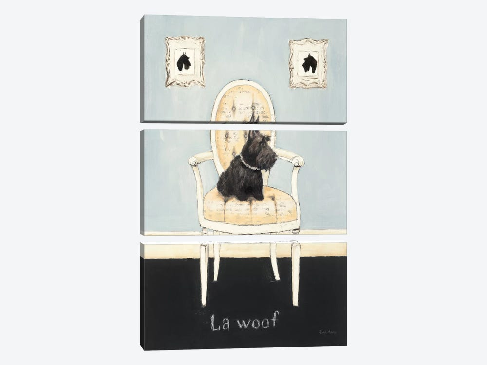 La Woof by Emily Adams 3-piece Canvas Art