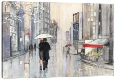 Spring Rain, New York Canvas Art Print