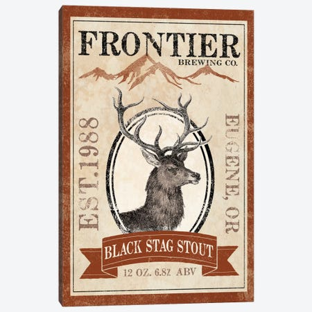 Frontier Brewing Co. I (Black Stag Stout) Canvas Print #WAC5329} by Laura Marshall Canvas Art Print