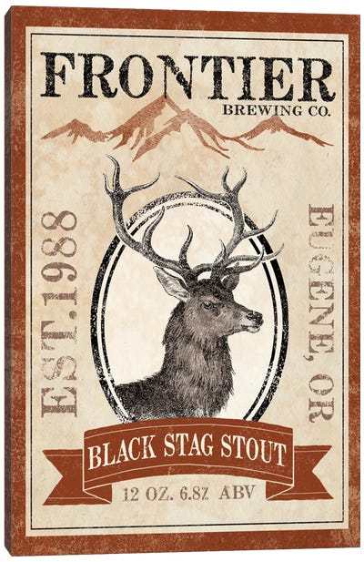 Frontier Brewing Co. I (Black Stag Stout) Canvas Art Print