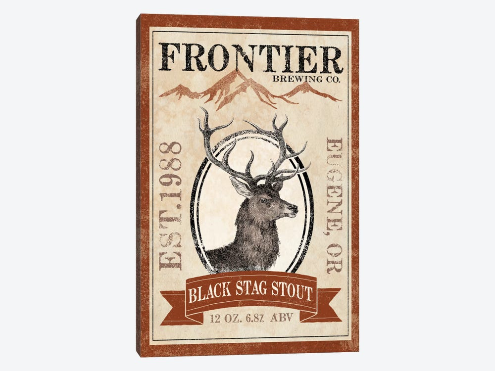 Frontier Brewing Co. I (Black Stag Stout) by Laura Marshall 1-piece Canvas Art Print