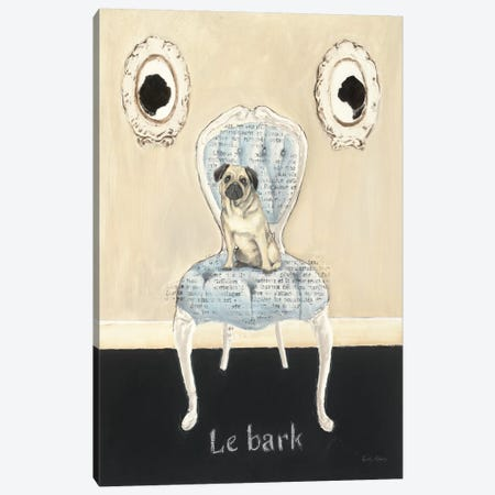 Le Bark Canvas Print #WAC532} by Emily Adams Canvas Wall Art