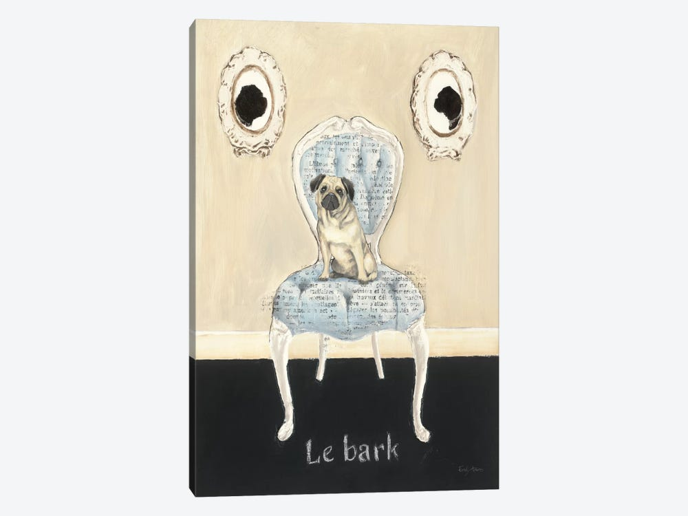 Le Bark by Emily Adams 1-piece Canvas Art Print