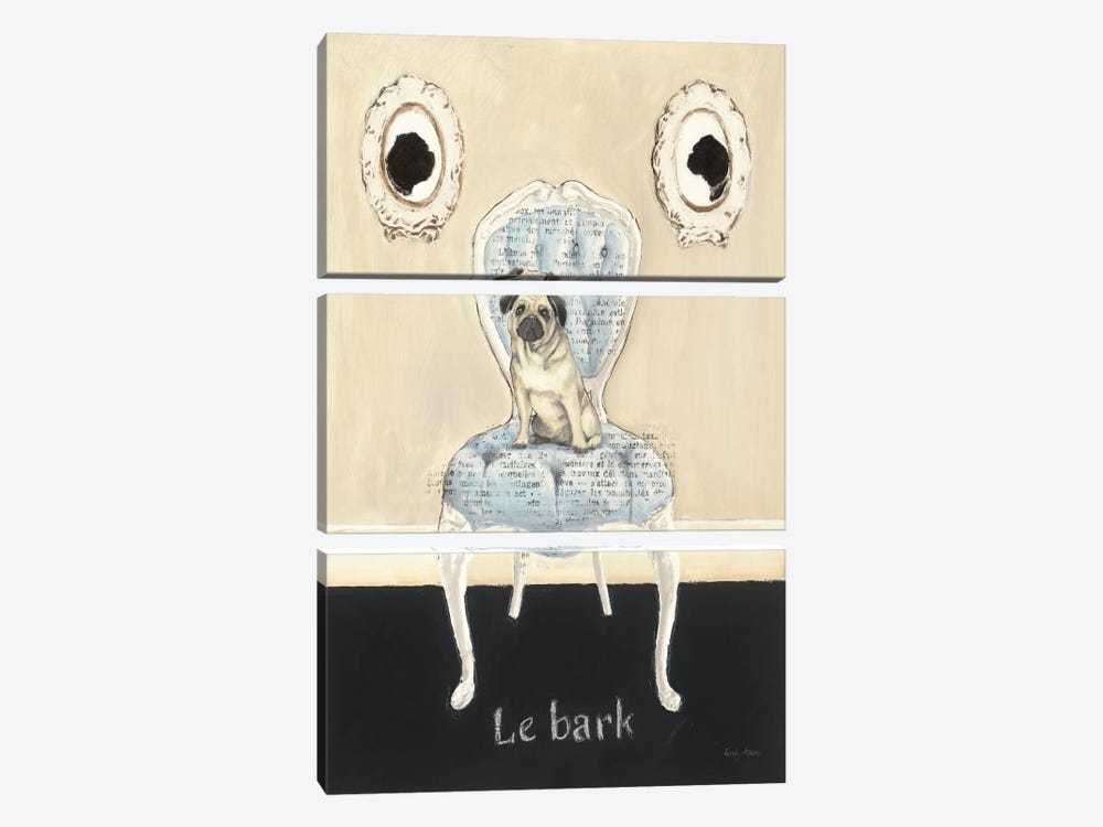Le Bark by Emily Adams 3-piece Art Print