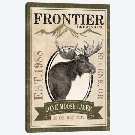 Frontier Brewing Co. II (Lone Moose Lager) Canvas Print #WAC5330} by Laura Marshall Canvas Wall Art