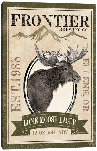 Frontier Brewing Co. II (Lone Moose Lager) Canvas Art Print