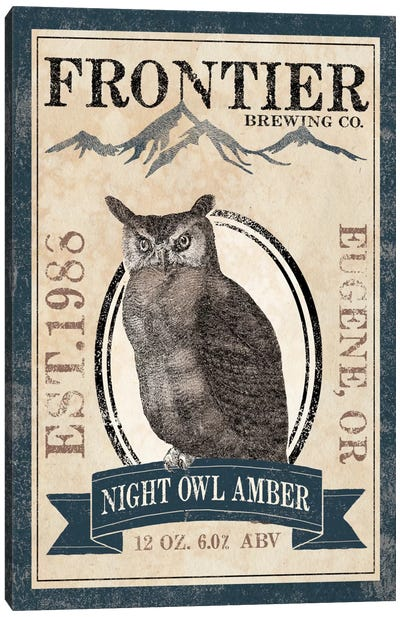 Frontier Brewing Co. III (Night Owl Amber) Canvas Art Print